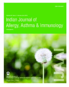 Indian Journal of Allergy, Asthma & Immunology