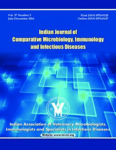 Indian Journal of Comparative Microbiology