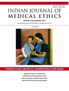 indian journal of medical ethics
