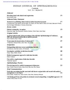 indian journal of ophthalmology