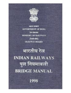 Indian Railway Bridge Manual