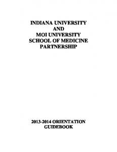 indiana university and moi university school of medicine ... - ampath