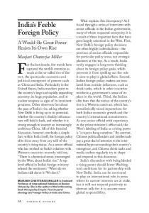 India's Feeble Foreign Policy - South Asia Institute