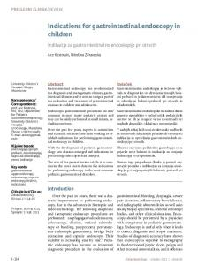 Indications for gastrointestinal endoscopy in children