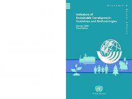 Indicators of Sustainable Development - the United Nations