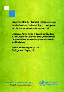 Indigenous Health - World Health Organization