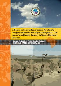 Indigenous knowledge practices for climate change ...