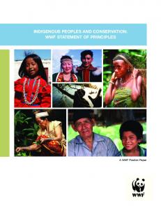IndIgenous PeoPles and ConservatIon: WWF statement oF PrInCIPles