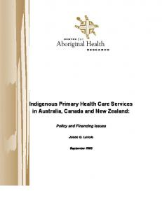 Indigenous Primary Health Care Services