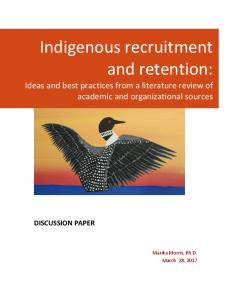 Indigenous recruitment and retention
