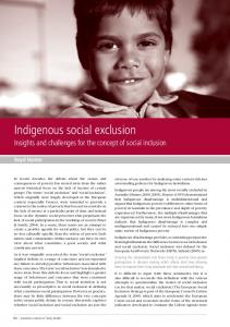 Indigenous social exclusion - Mental Health Academy