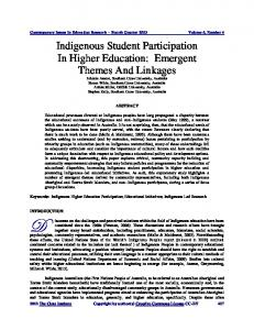 Indigenous Student partcipation in Higher Education - Eric
