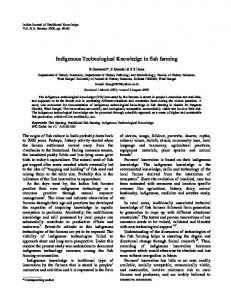 Indigenous Technological Knowledge in fish farming - NOPR