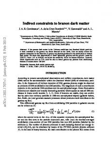 Indirect constraints to branon dark matter