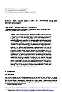 Indirect Dark Matter search with the ANTARES Deep-Sea Cherenkov ...