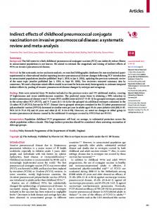 Indirect effects of childhood pneumococcal conjugate ... - The Lancet