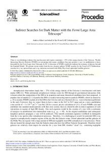 Indirect Searches for Dark Matter with the Fermi Large Area ... - OSTI.gov