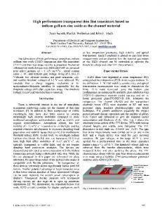 indium gallium zinc oxide as the channel material - IEEE Xplore