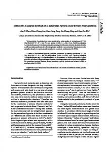 Indium (III)-catalyzed synthesis of N-substituted pyrroles under solvent ...