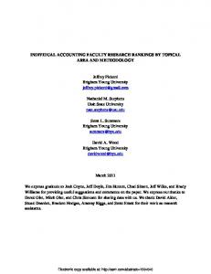 INDIVIDUAL ACCOUNTING FACULTY RESEARCH ... - SSRN papers