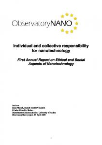 Individual and collective responsibility for ...