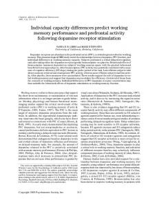 Individual capacity differences predict working ... - Semantic Scholar