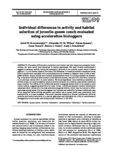Individual differences in activity and habitat selection ... - Inter Research
