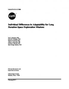 Individual Differences in Adaptability for Long ...