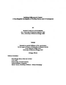 Individual Differences in Context: A Neurolinguistic ...