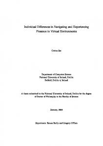 Individual Differences in Navigating and