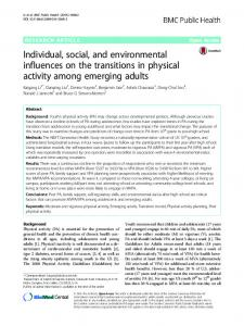 Individual, social, and environmental influences on ... - Semantic Scholar