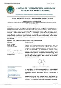 Indole Derivatives acting on Central Nervous System ...