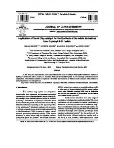 indole - Journal of Ultra Chemistry