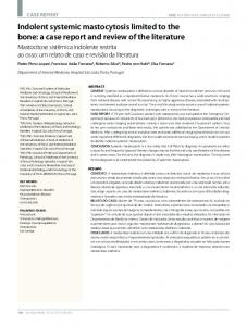 Indolent systemic mastocytosis limited to the bone