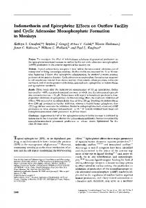 Indomethacin and Epinephrine Effects on Outflow ...