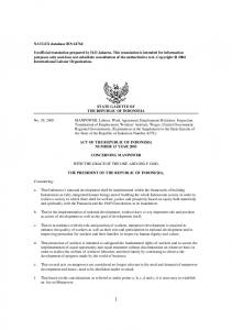 Indonesian Labour Law - Act 13 of 2003