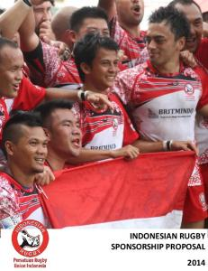 INDONESIAN RUGBY SPONSORSHIP PROPOSAL 2014