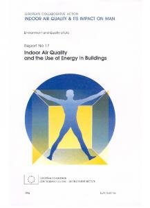 Indoor Air Quality and the Use of Energy in Buildings