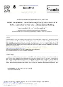 Indoor Environment Control and Energy Saving Performance of ... - Core