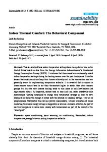 Indoor Thermal Comfort - MDPI