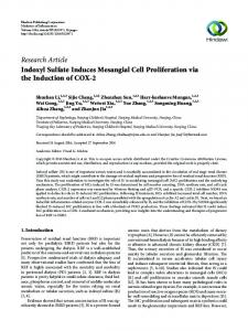 Indoxyl Sulfate Induces Mesangial Cell Proliferation via the Induction ...