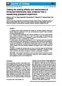 induced biodiversity loss - Wiley Online Library