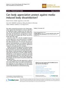 induced body dissatisfaction? - Journal of Eating Disorders - BioMed ...