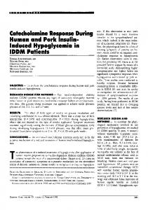 Induced Hypoglycemia in IDDM Patients - Diabetes Care