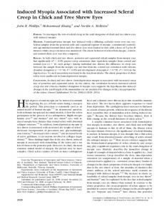 Induced Myopia Associated with Increased Scleral ... - Semantic Scholar