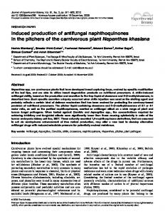 Induced production of antifungal naphthoquinones in the pitchers of ...