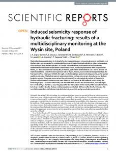 Induced seismicity response of hydraulic fracturing