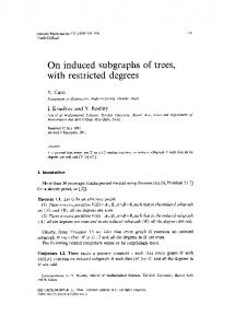 induced subgraphs of trees, with restricted degrees - Core