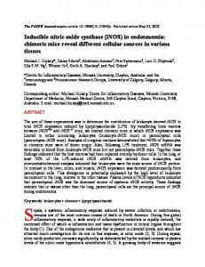 INDUCIBLE NITRIC OXIDE SYNTHASE (iNOS) - Semantic Scholar
