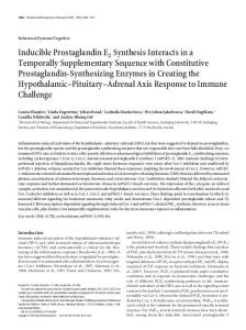 Inducible Prostaglandin E2 Synthesis Interacts in a